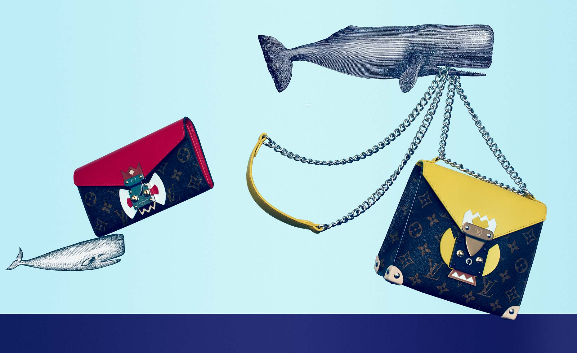 Jeff Stephens | Sea life illustrations with Shoe and Handbags